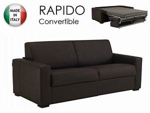 canape convertible rapido 120cm dreamer cuir vachette With canapé cuir convertible couchage quotidien