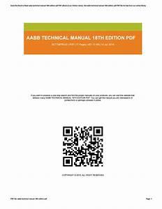 Aabb Technical Manual 18th Edition Pdf By Lauramorris2860