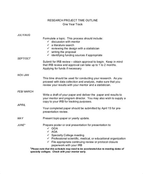 sample project timeline templates   ms word