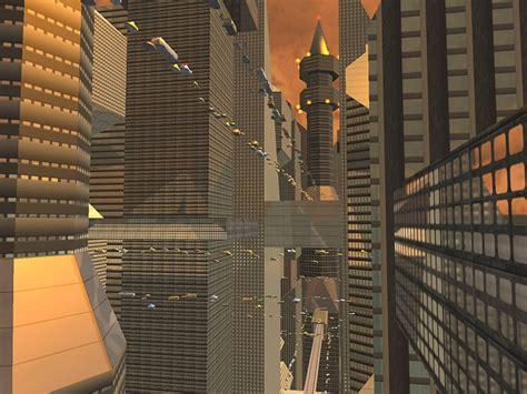 future city  screensaver  animated  screensaver