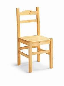 Chaise En Pin : av109 chaise rustique en pin sediarreda ~ Teatrodelosmanantiales.com Idées de Décoration