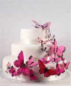 wedding cake ornament butterfly wedding cake decorations pink