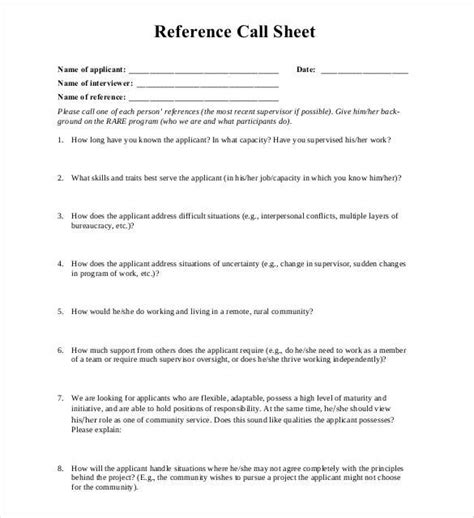 References On Resume Exle by 10 Reference Sheet Templates Free Printable Word Excel