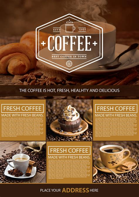 coffee shop  flyer graphic google tasty graphic