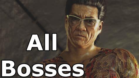 yakuza   bosses  boss fights youtube