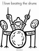 Bongo Drumbeats Getdrawings sketch template