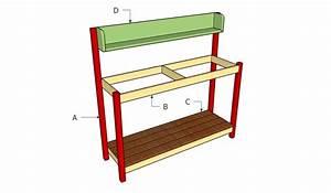 Garden Work Bench Plans - 11 Interesting Garden Work Bench