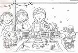 Holiday Sketch Refugee Drawing Coloring Postcard Template sketch template