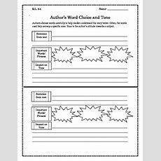 Author's Word Choice And Tone Worksheet {any Book} By Lauren White