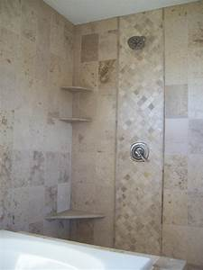 Tiny open shower design inspiration featuring simple