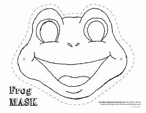 Frog cut out template frog mask colouring pages diy for Dog mask template for kids