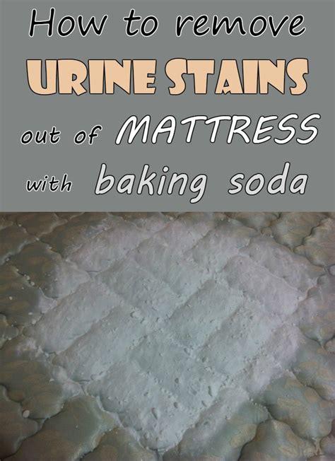 remove urine stains  mattress  baking soda