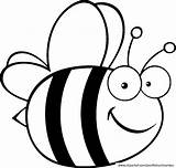 Bee Bumble Coloring Pages Bees Cartoon sketch template