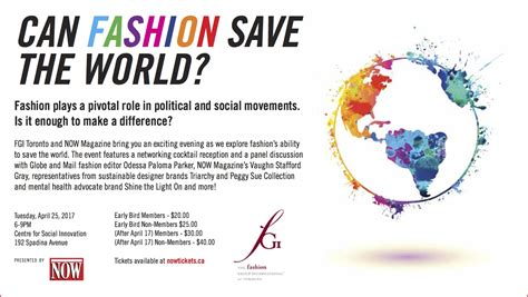 Can Fashion Save The World? Tickets  Centre For Social