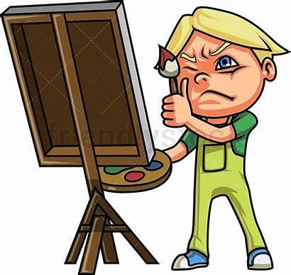 Canvas Painting Boy Cartoon Clipart Kid Drawing