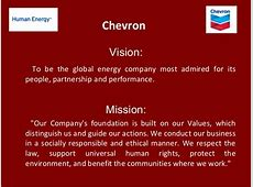 Chevron Vision To be the