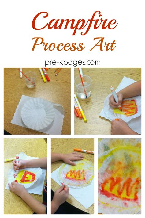 campfire process for a camping theme pre k pages 254 | camping process art for preschool