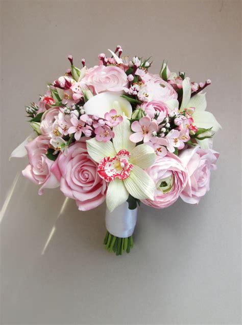 cherry blossom bouquet sakura bouquet bridal bouquet