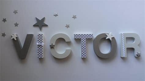 femme de chambre en 4 lettres lettres en bois prénom victor a poser ou fixer sur
