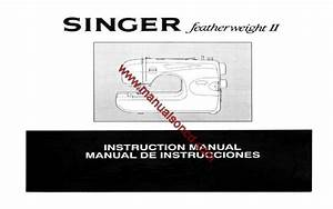 Singer Featherweight Ii Sewing Machine Manual  Models 117  118