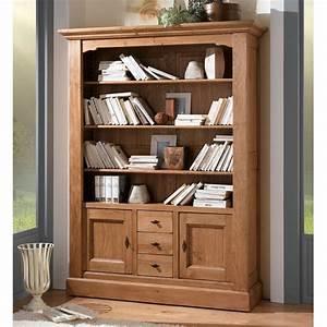 Bibliotheque Chene Massif : biblioth que ch ne massif nogent meubles leclerc ~ Teatrodelosmanantiales.com Idées de Décoration