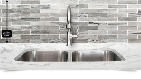 Gray Marble Backsplash : Modern White Gray Subway Marble Backsplash Tile