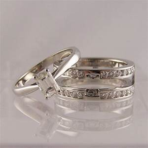 slot to fit engagement wedding rings ring jewellery With double band wedding ring set