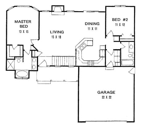 Traditional Style House Plan 2 Beds 2 00 Baths 1179 Sq
