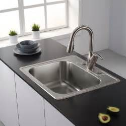 kitchen sink single bowl top mount