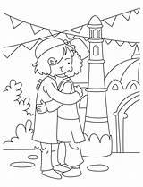 Eid Coloring Pages Colouring Ramadan Adha Nepal Al Milan Activities Mubarak Islam Happy Sketch Crafts Drawing Template Printable Greetings Islamic sketch template