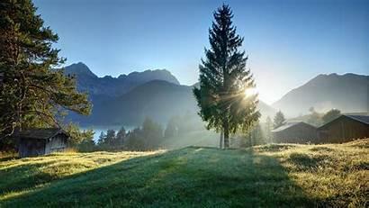 Landscape Nature Trees Water Sunrise Plants Lake