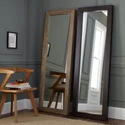 floor mirror wood parsons floor mirror natural solid wood west elm uk