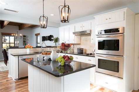 Fixer Upper After The Original Cabinets Were Painted White
