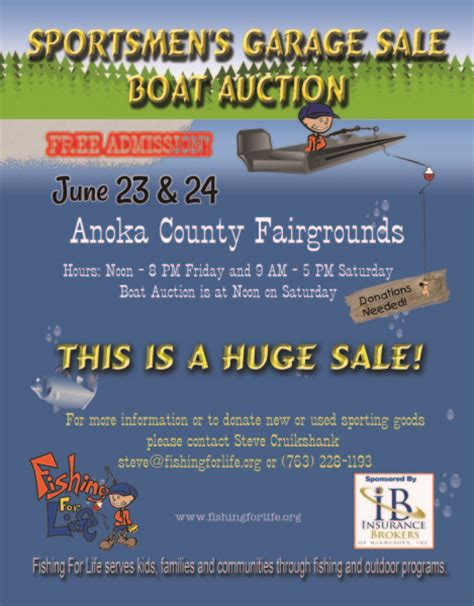 Fishing For Life Boat Auction by 2016 Sportsmen S Garage Sale And Boat Auction