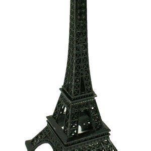 black eiffel tower paris france metal stand model