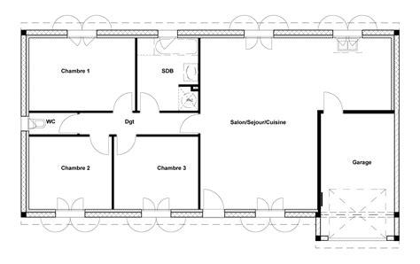 plan 3d chambre charming plan maison 90m2 3 chambres 14 plan maison 90m2
