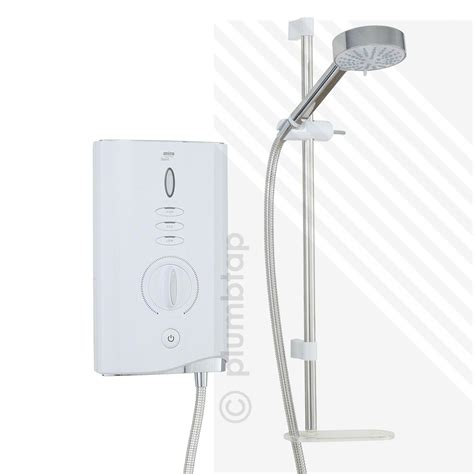 Mira Sport 85 Kw Electric Shower by Mira Sport Max Electric Shower 9 0kw White Chrome 1 1746 007