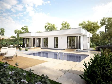 Moderne Häuser Mit Pool Kaufen by Bungalow Haus Modern Im Bauhausstil Mit Flachdach