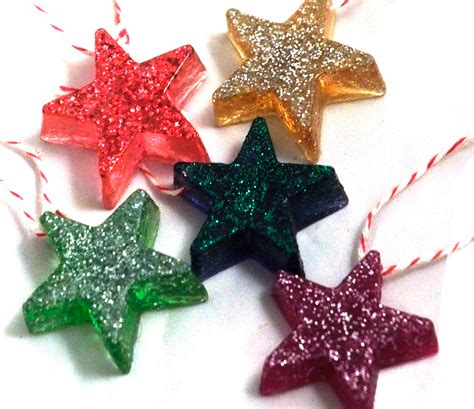 make christmas ornaments dabbled tutorial make resin star christmas tree ornaments