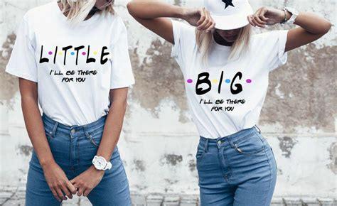 friends themed sister shirts sorority shirts  big