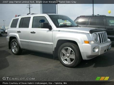 silver jeep patriot interior bright silver metallic 2007 jeep patriot limited 4x4