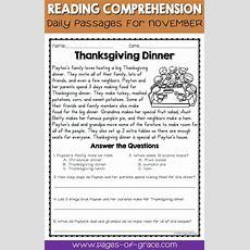 Reading Comprehension Passages And Questions For November  Aula, El Aula Y Cuentos Cortitos