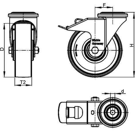 Lkrxatpa Stainless Steel Light Duty Swivel Casters With