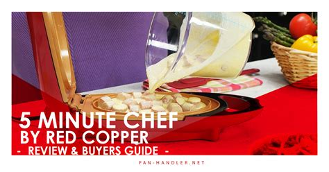 red copper  minute chef  depth review pan handler