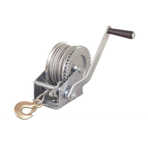 Boat Trailer Winch Hook by 1 Ton Crank Steel Cable Winch Boat Atv Trailer W Hook