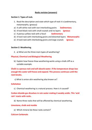 questions  rocks  revision  test  gerwynb