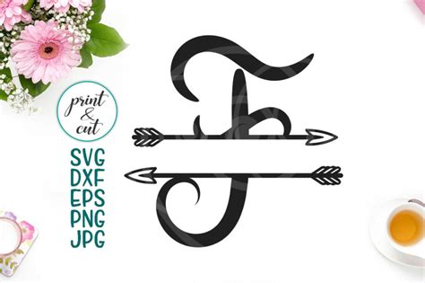 letter  individual monogram letter  arrows cutting file svg  kartcreation thehungryjpegcom
