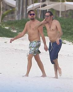 Leonardo DiCaprio On Beach In Mexico With Lukas Haas