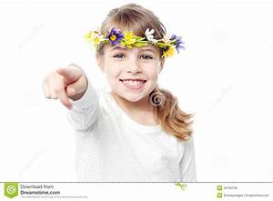 Smiling Girl With Flower Crown Stock Photo - Image of ...