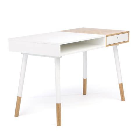 bureau blanc et bois bureau blanc et bois